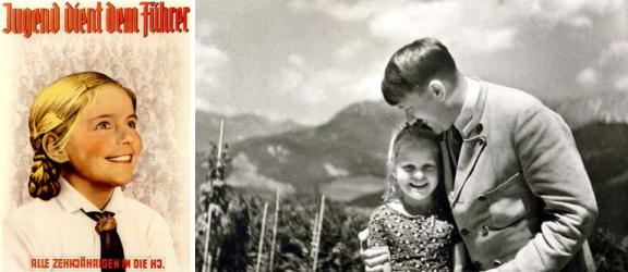 Adolf Hitler mit kleinem Mädchen, Fotopostkarte (1933)