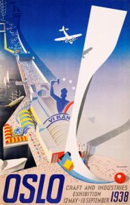 Å skape optimisme og glede hos sitt folk er blitt Damsleths varemerke. Her er en plakat han lagde i 1938.