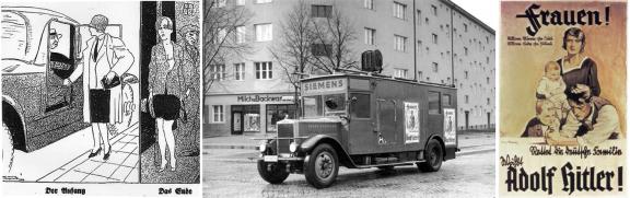 1932: «Frauen! Rettet die deutsche Familie - wählt Adolf Hitler!»
