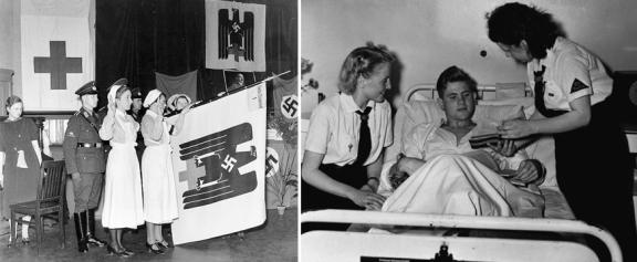 De tyske søstre og deres unge hjelpere fra Hilfdienst er helt klart de nye heltene på heimefronten som aldri har stått sterkere. «Du bist front», tyske søster!