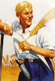 Ludwig Hohlwein_jungbauer_im_kornfeld_1935