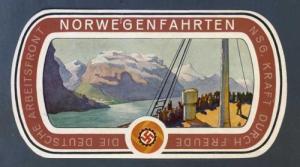 Bagasjelapp fra KdF-skipet Wilhelm Gustloff.