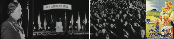 Det var god stemming på Klingenberg kino under det anti-marxistiske møtet 1942.