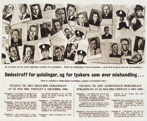 Et flygeblad fra London i anledning deres nye forordning i oktober 1941.