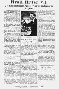 Aftenposten_30.09.1932_Hitlers_program