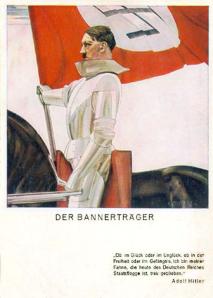 «I motgang som i medvind, i fengsel som i frihet, er jeg det Tyske rikes Fane tro til døden.» Adolf Hitler.