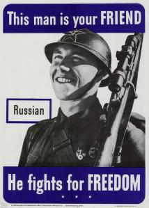 """Winston Churchills nye marxist-venn (som han glemte å erklære krig da han """"frigjorde"""" Polen fra øst) kjemper visst merkelig nok for den samme """"friheten"""" som det """"demokratiske"""" England i denne tofronts krigen mot Europa."""