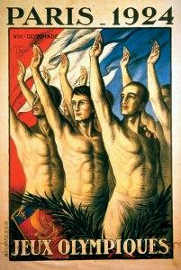 """Den såkalte """"nazi hilsen"""" er ikke noe tysk oppfinnelse, men en felles europeisk hilsen, slik som det fremkommer av denne franske OL-plakaten."""