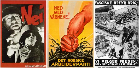 "Arbeiderpartiets ""fredspolitikk"" ga oss 9. april."