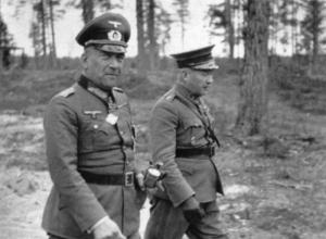 Nikolaus von Falkenhorst (til venstre) og den finske general Hjalmar Siilasvuo sikrer Norden mot terror fra både øst og vest.
