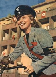 En tysk postkvinne.