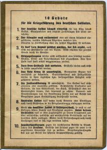 Zehn Gebote für die Kriegsführung des deutschen Soldaten.