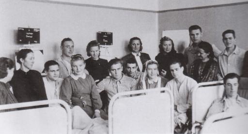 Norske frontsøstre ved lasarett i Riga.